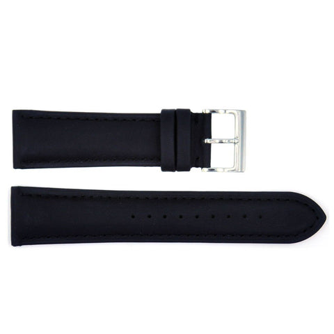 Euro Collection Rhein Fils Switzerland Black Waterproof Leather Watch Strap