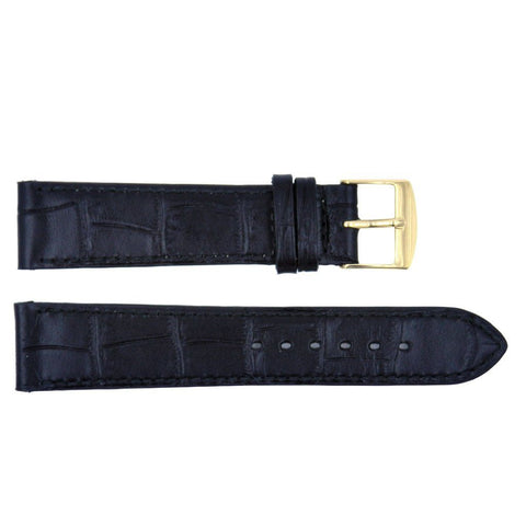 Euro Collection Louisiana Alligator Grain Short 18mm Leather Watch Strap