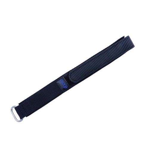 Euro Collection Black 20mm Nylon Action Watch Band