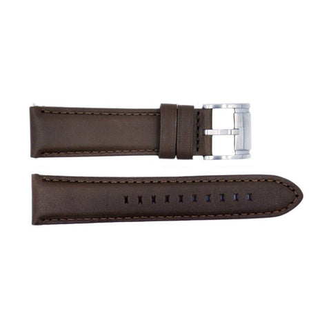 Genuine Fossil Smooth Brown Leather 22mm Watch Strap