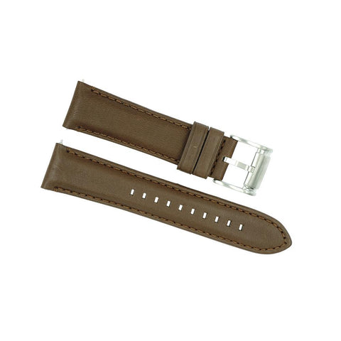 Fossil 22mm Brown Leather Watch Strap ME3027