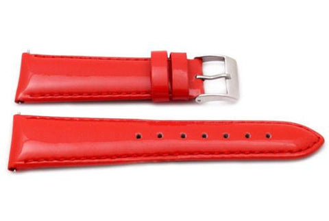 Genuine Patent Leather Smooth Matching Stitching Watch Strap