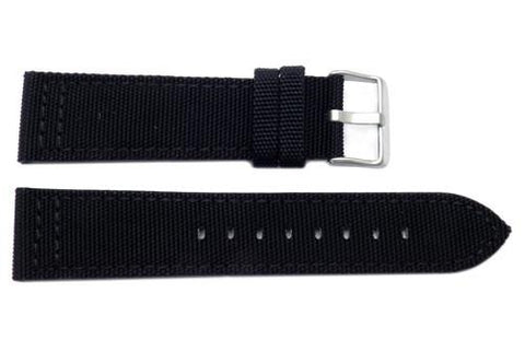 Canvas With Genuine Leather Backing Replacement Watch Band