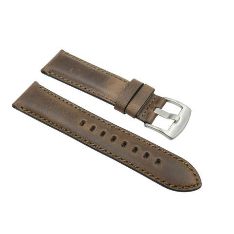 Horween Chromexcel 22mm Rustic Brown Leather Strap