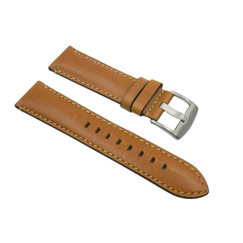 Horween Chromexcel 22mm Tan Constrat Stitch Leather Strap