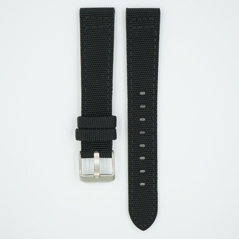 Canvas Watch Strap Black