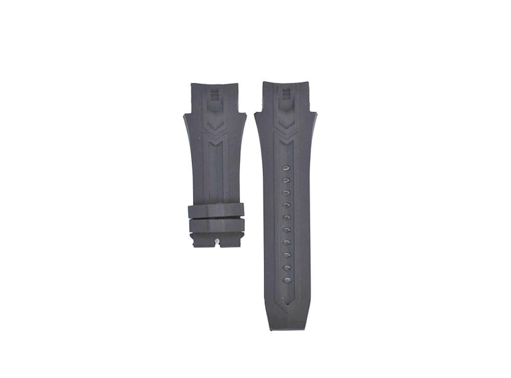 26mm Compatible Invicta Excursion Black Rubber Watch Strap for Models 12691, 12690, 12692, 12688 image