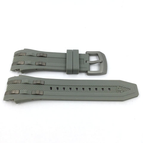 Invicta 0227 Gray Rubber Watch Band Strap