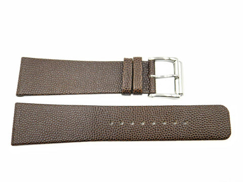 Kenneth Cole Genuine Textured Brown Leather 24mm Watch Strap