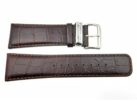 Genuine Kenneth Cole Alligator Brown Leather 27mm Watch Strap