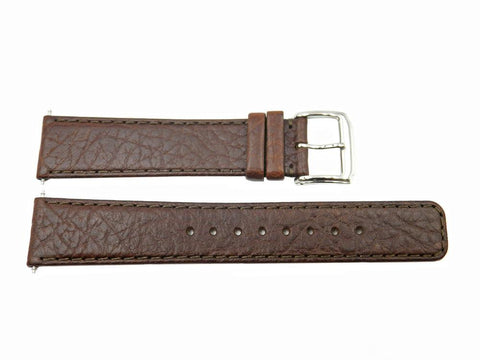 Genuine Kenneth Cole Men's Reaction Brown Buffalo Leather 20mm Watch Strap