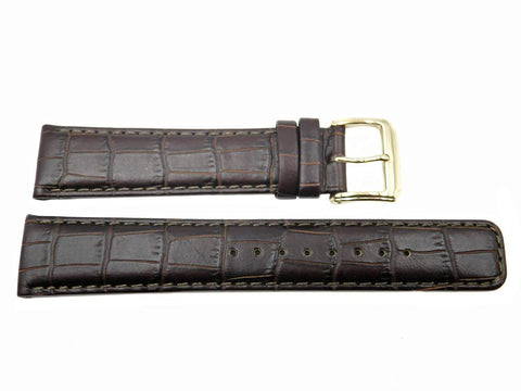 Genuine Kenneth Cole Brown Alligator Grain 20mm Leather Watch Band