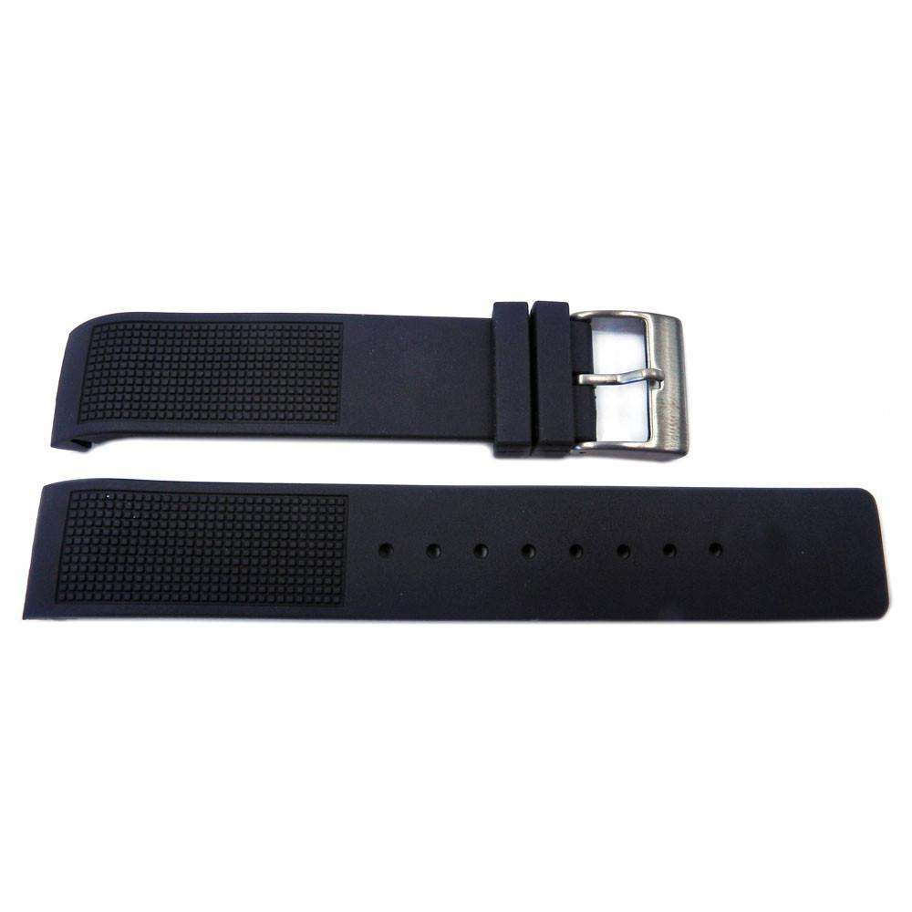 Kenneth Cole Black Polyurethane 20mm Watch Strap