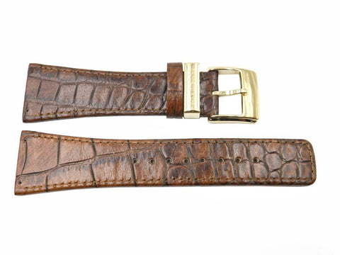 Genuine Kenneth Cole Crocodile Grain Leather 28mm Watch Band