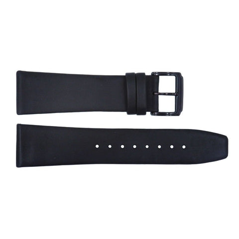 Genuine Kenneth Cole Black Matte Leather 24mm Watch Strap