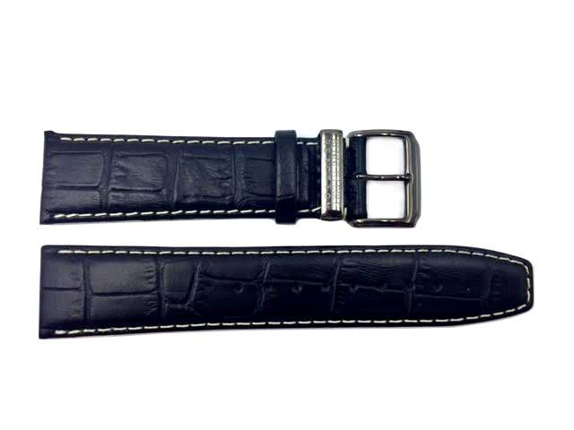 Genuine Kenneth Cole Black Alligator Grain 22mm Leather Watch Band image