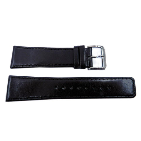 Kenneth Cole Genuine Black Leather Square Tip 24mm Watch Band