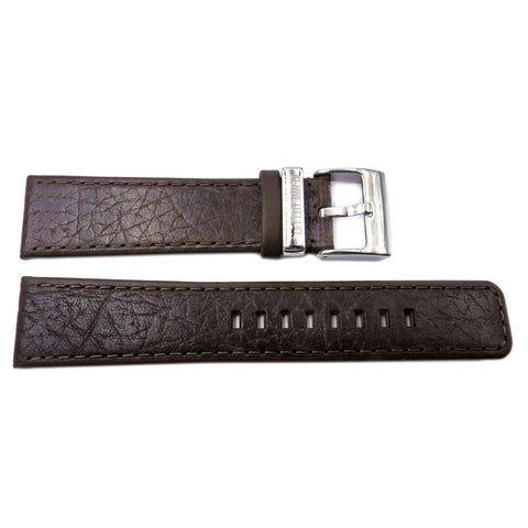 Genuine Kenneth Cole Brown Textured Leather 22mm Watch Strap