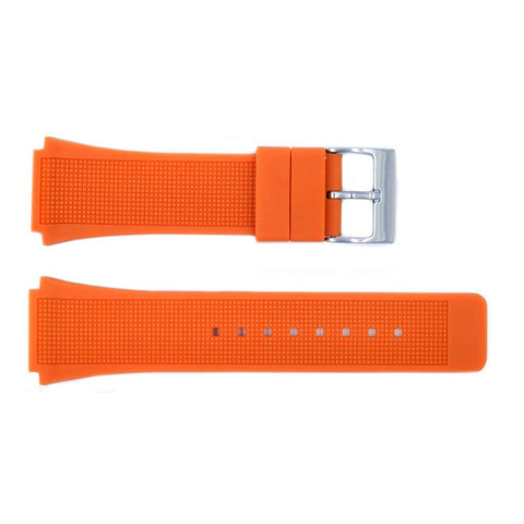 Kenneth Cole Orange Textured Polyurethane 28mm/22mm Watch Strap