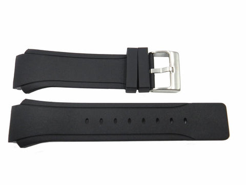Genuine Kenneth Cole Black Polyurethane 28/21mm Watch Strap