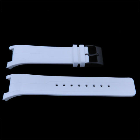 Genuine Kenneth Cole White Polyurethane 26mm/16mm Watch Strap