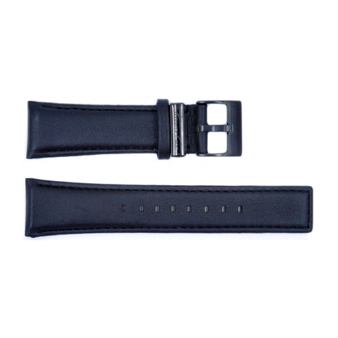 Genuine Kenneth Cole Smooth Black Leather Square Tip 24mm Watch Strap