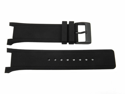 Genuine Kenneth Cole Black Polyurethane 30/16mm Watch Strap
