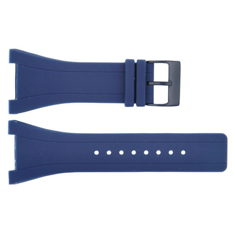 Kenneth Cole Blue Polyurethane 36mm Watch Band