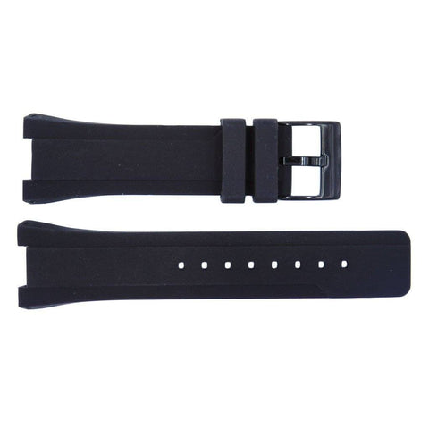 Kenneth Cole Black Polyurethane 24mm Watch Band