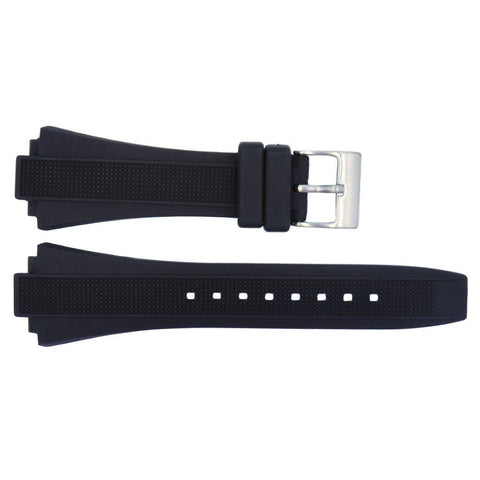 Kenneth Cole Black Polyurethane 28/12mm Watch Band