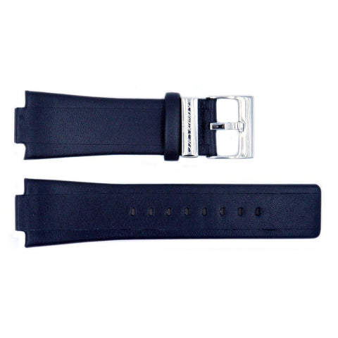 Genuine Kenneth Cole Black Smooth Leather 27mm/14mm Watch Strap