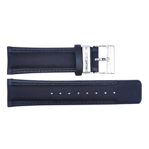 Kenneth Cole Genuine Black Textured Leather 25mm Watch Strap