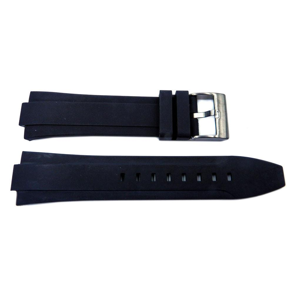 Genuine Kenneth Cole Black Polyurethane 24/12mm Watch Band