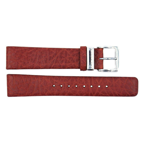 Kenneth Cole Genuine Textured Leather Square Tip Red 18mm Watch Band