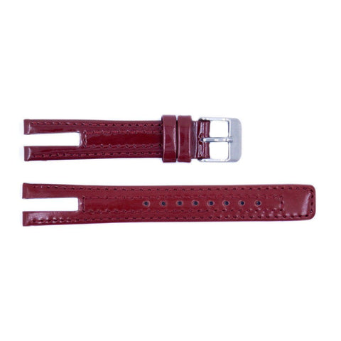 Genuine Kenneth Cole Smooth Red Leather Square Tip 14mm Watch Band