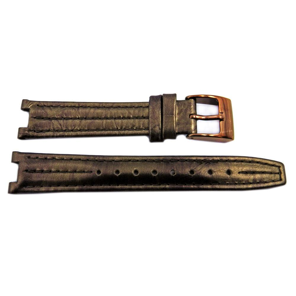 Kenneth Cole Genuine Leather Brown 16mm/7mm Watch Strap