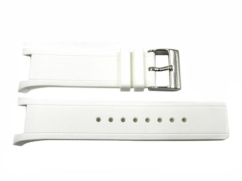 Genuine Kenneth Cole White Silicone 28/16mm Watch Strap