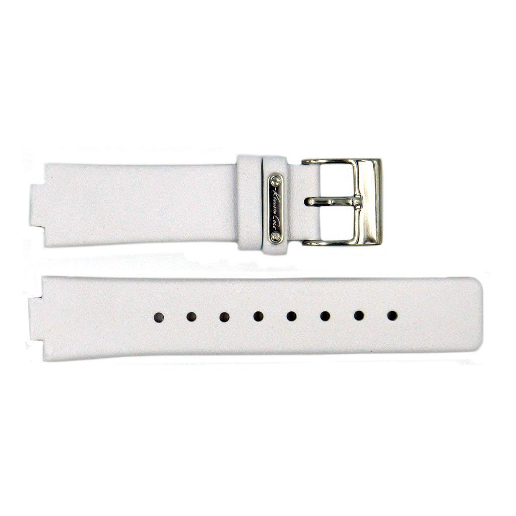 Genuine Kenneth Cole White Smooth Leather Square Tip 20mm/10mm Watch Strap