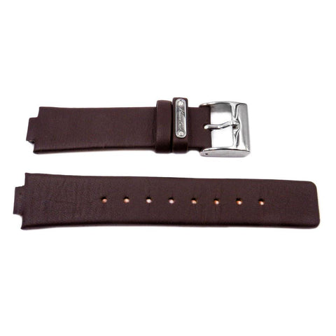 Genuine Kenneth Cole Brown 20mm Smooth Leather Square Tip Watch Strap
