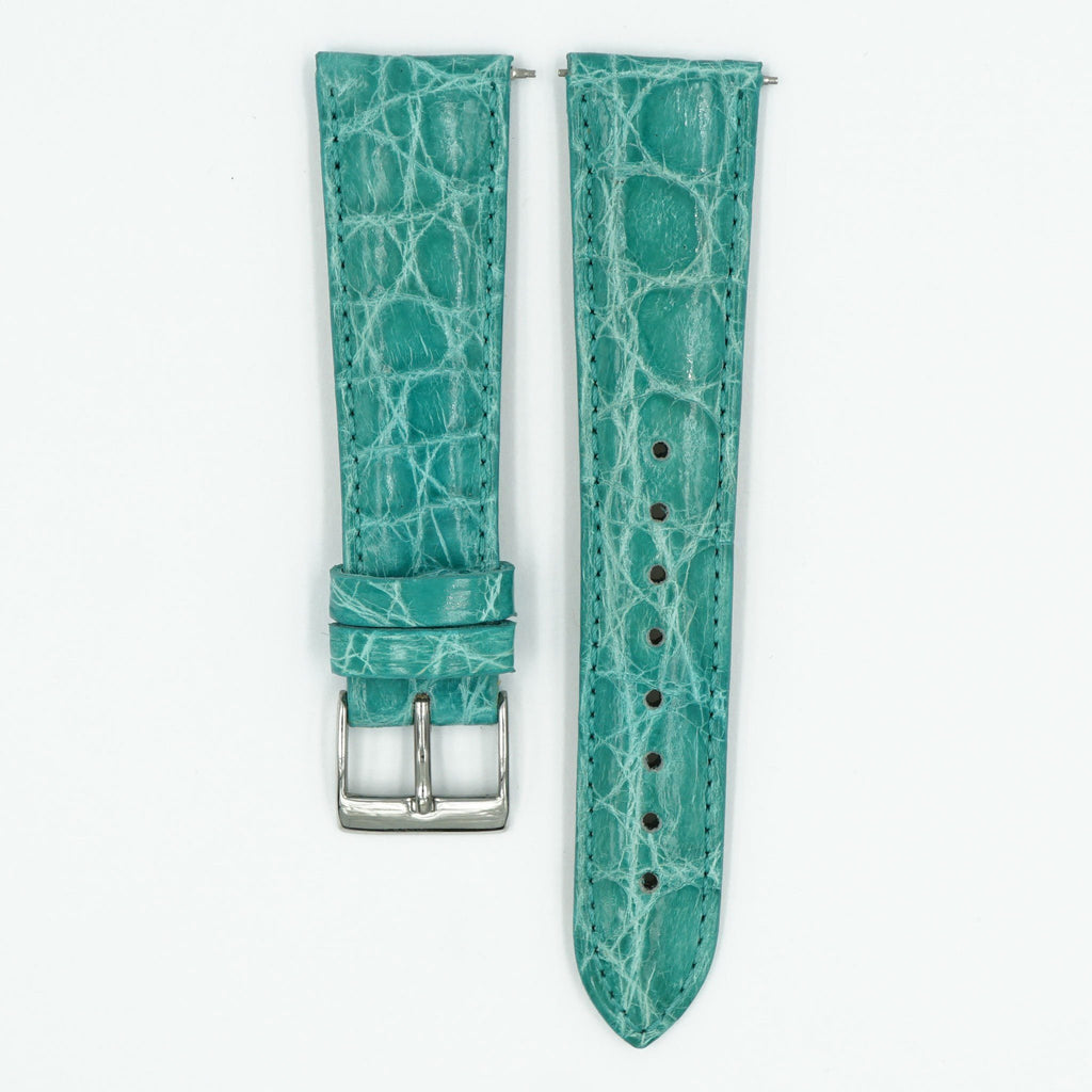 Womens Crocodile Watch Strap - Turquoise image