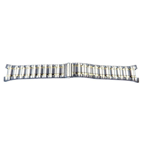 Genuine Seiko Coutura Series Dual Tone Push Button Fold-Over Clasp 24mm Watch Bracelet