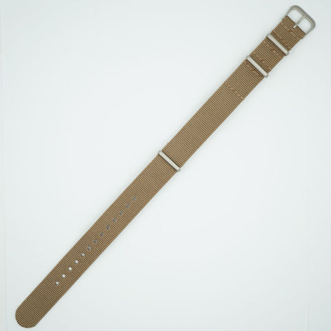 Khaki NATO One Piece Nylon Strap