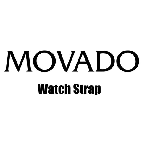 Movado Black Genuine Lizard Leather 12mm Short Watch Strap