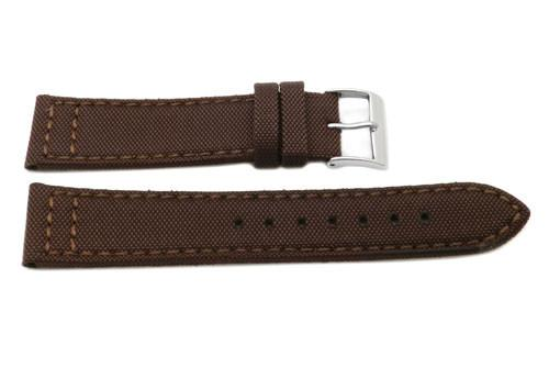Genuine Leather and Nylon G.I. Joe Canvas Style Watch Band