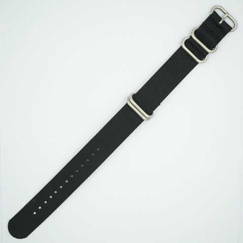 Black NATO One Piece Nylon Strap