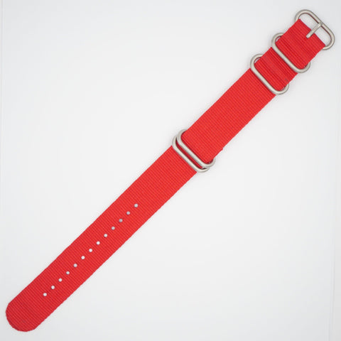 Red Heavy NATO Watch Strap