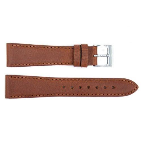 Genuine Textured Leather Brown Replacement Watch Strap