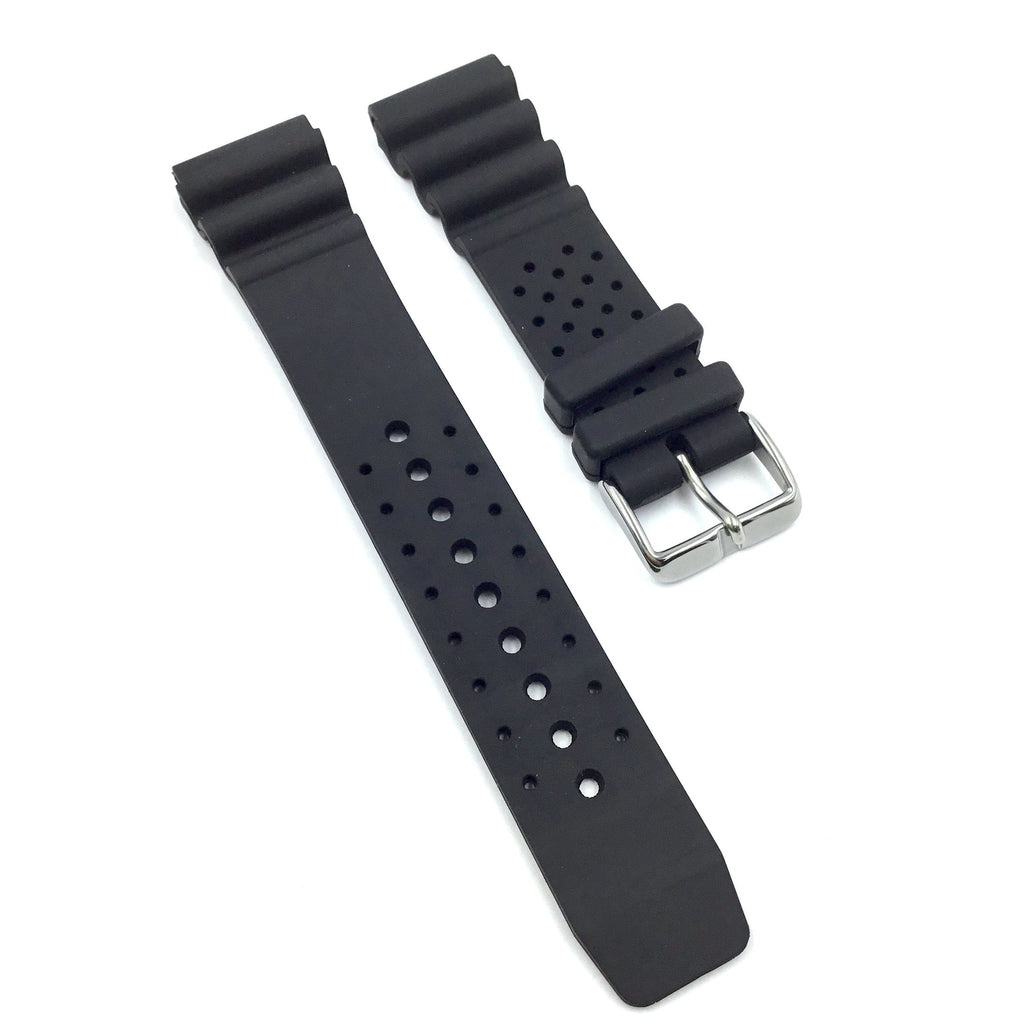 Bandenba P152 Black Rubber Watch Strap image