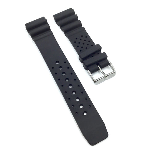 Bandenba P152 Black Rubber Watch Strap