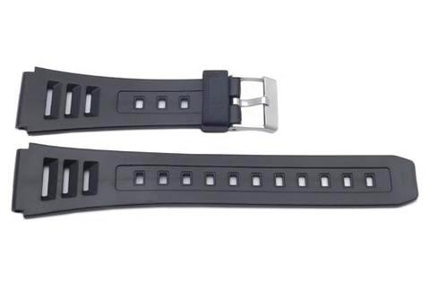 Casio Style Replacement 19mm Black Watch Strap P3026